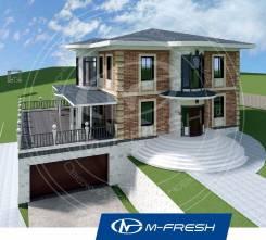 M-fresh Michael-Jackson-зеркальный /Встроенный гараж в цоколе, терраса. 400-500 кв. м., 3 этажа, 6 комнат, кирпич