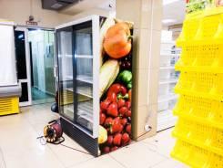Наклейка рекламная на холодильники, оборудование