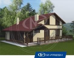 M-fresh Eco time (Деревянное балочное перекрытие). 100-200 кв. м., 1 этаж, 5 комнат, дерево