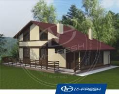 M-fresh Eco time-зеркальный (Деревянный дом, хорошая планировка). 100-200 кв. м., 1 этаж, 5 комнат, дерево