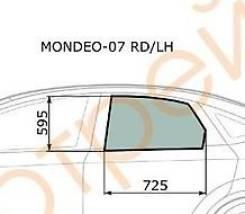 Стекло опускное задней левой двери Ford Mondeo III sed/hbk 2007-