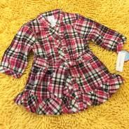 Распродажа! Стильное платье-туничка для малышки, р.18м. Рост: 74-80, 80-86 см