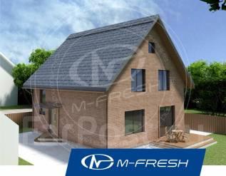 M-fresh Anderson (Проект 1-этажного дома с мансардой. Посмотрите! ). 100-200 кв. м., 1 этаж, 3 комнаты, кирпич