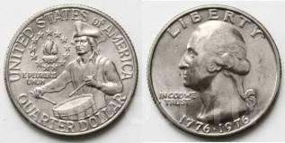 25 центов 1976 г. 200 лет независимости. США.