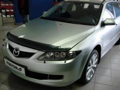 Дефлектор капота (мухобойка) Mazda 6, Atenza 2002-2008 GG3S, GGES, GY