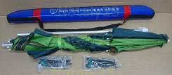 Зонт пляжный раскладной с измен накл в чехле с колышками и веревкой