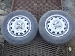 Колеса Dunlop SP70 175/70 R13 на штампованных дисках, пара. 5.0x13 4x100.00 ЦО 54,0мм.