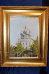 НХ, картина «Псков. Свято-Троицкий Собор», х. м., Россия, конец XIX в. Оригинал