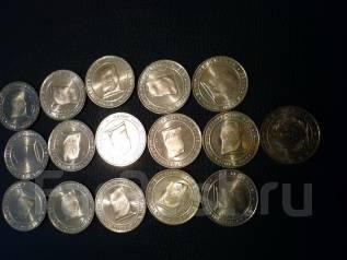Набор монет 1 куриш 2016г Турция -16 шт -территории
