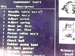 Ремкомплект карбюратора Nissan GA16DS полный