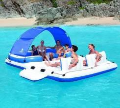 Надувной плот плавучий остров Bestway 43105 на 6 человек 389 х 274 см.