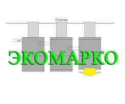 Установка трехкамерного септика за 69000р от компании Экомарко