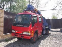 Isuzu Elf. Автобуровая,4WD ямобур, бурильно крановая машина 4WDна шасси Исудзу, 4 600 куб. см., 3 500 кг.