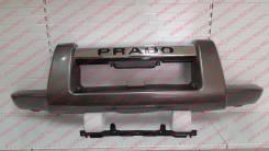 Накладка на бампер. Toyota Land Cruiser Prado, RZJ120W, KDJ120W, KDJ121W, VZJ121W, VZJ120W, TRJ120W, GRJ120W, RZJ125W, GRJ121W, KDJ125W, TRJ125W, VZJ1...