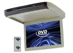 """Потолочный монитор 15"""", DVD, TV, USB, SD (Бежевый)"""
