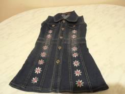 Платья джинсовые. Рост: 110-116 см