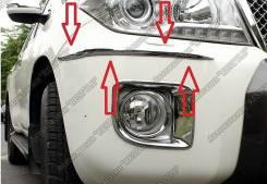 Накладка на бампер. Toyota Land Cruiser