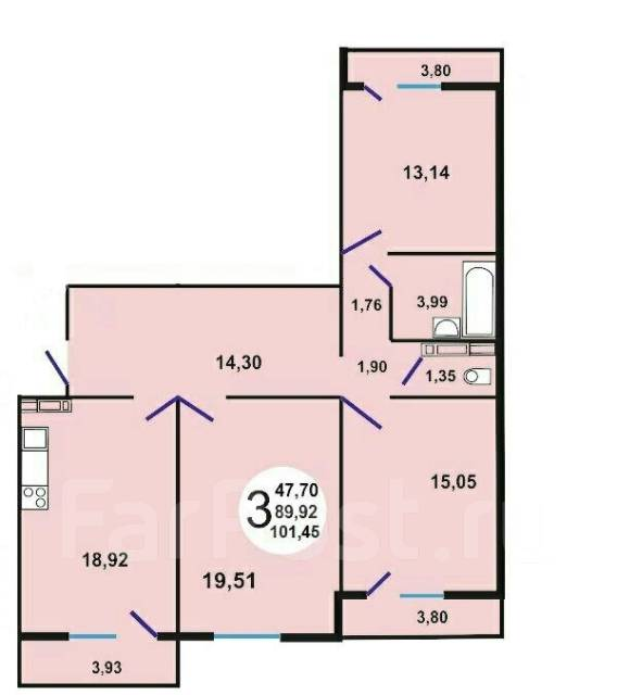 краснодар планировка 3 комнатной 74 котлярова