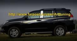 Накладка на стойку. Toyota Land Cruiser Toyota Land Cruiser Prado, GRJ150L, GRJ150W, GRJ150. Под заказ