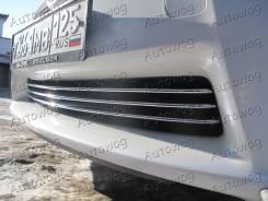 Накладка на решетку бампера. Toyota Prius