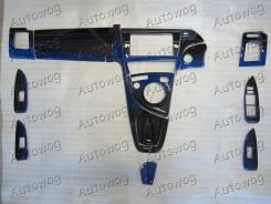 Набор накладок в салон сине-чёрный лак на Prius 30 / приус 30