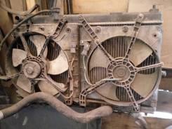Вентилятор охлаждения радиатора. Honda Fit Aria