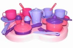 Набор детской посуды Янина с подносом на 4 персоны