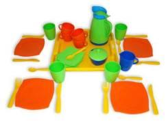 """Набор детской посуды """"Алиса"""" с подносом,на 4 персоны, сетка"""