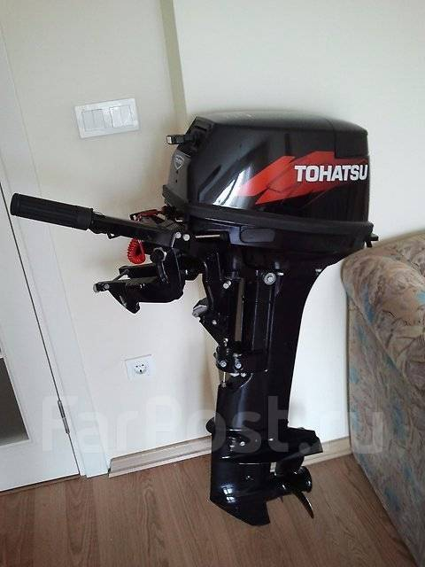 Tohatsu. 9,90л.с., 2-тактный, бензиновый, нога S (381 мм), 2014 год год. Под заказ