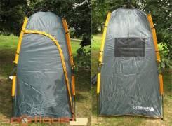 Палатки душ-туалет.
