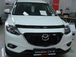 Дефлектор капота (мухобойка) Mazda CX-9 2007-2015 TB темный