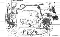 Электропроводка. Toyota Wish, ZNE10 Двигатель 1ZZFE