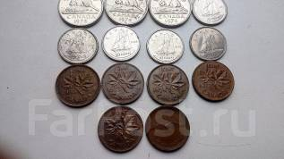 Канада 1,5,10 центов-17 монет