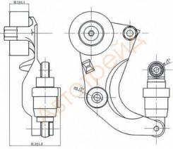 Натяжитель приводного ремня HONDA ACCORD VIII 2,0 08-/CIVIC(FD/K) 1,8 06-/CR-V III-IV 2,0 07- SAT ST-31170-R0A-005