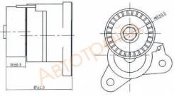 Натяжитель приводного ремня MMC ASX/LANCER 1,8-2,0 08-/OUTLANDER/CITROEN C-CROSSER 2,0-2,4 08- SAT ST-1345A008
