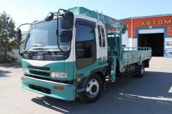 Isuzu Forward. Бортовой грузовик с манипулятором, 7 900 куб. см., 8 000 кг.