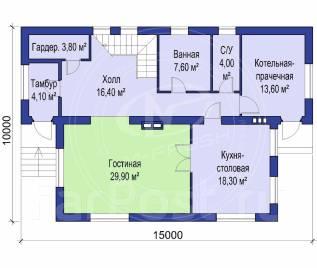 M-fresh Golden hit max. 200-300 кв. м., 2 этажа, 4 комнаты, бетон