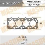 Прокладка головки блока цилиндров. Mitsubishi Pajero, V24V, V24W, L044G, V44W, V34V, V14V, L149G, V47WG, V24WG, L144G, V24C, V44WG, L049G Mitsubishi C...