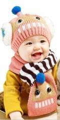 Шапка и шарф. Рост: 68-74, 74-80, 80-86 см
