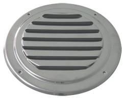 Вентиляционная решетка круглая с козырьком, 102 мм