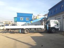 Daewoo Novus. 4x2 с краном Dongyang SS2036, 11 051 куб. см., 9 000 кг.