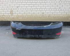 Бампер задний оригинал Hyundai Solaris седан (цвет чёрный)