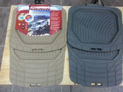 Коврик автомобильные резиновые 100% DEFENDER ванночка 4 пр беж серый TER-515
