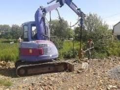 Услуги ямобура на гусках монтаж установка свай