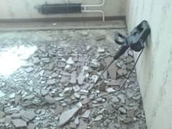 Демонтаж стен и потолка, демонтаж стяжки, ломаем стяжку, частник