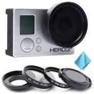 CPL поляризационный + UV фильтр + крышка объектива комплект для GoPro. Для Gopro, диаметр 37 мм