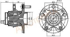 Ступица FR TOYOTA MARK X/LEXUS GS300 05- LH KOYO 3DACF027F-9BS