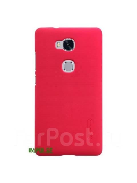 Чехол-накладка для Huawei Honor 5X Nillkin Super Frosted Shield Красный
