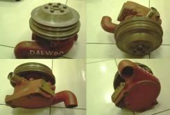Помпа водяная D2366 / DAEWOO DH280-3 / 65.06500-6125 / 65065006125 / 2 ручья / экскаватор