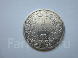 "Германия 1 марка 1908 года. Монетный двор: ""A"" - Берлин. Серебро."